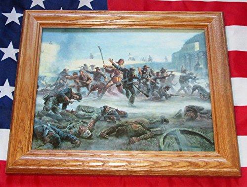 Framed Texas Revolution Painting, Mort Kunstler, THE ALAMO, Davy Crockett by USFlags11