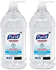 Purell Advanced Hand Sanitizer, Refreshing Gel, 2 Liter Hand Sanitizer Table Top Pump Bottles (Pack of 2) - 96