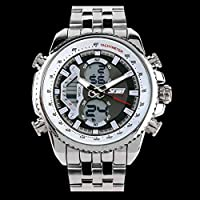 Men's Mechanical Watch Dress Watch Automatic Calendar/Date / Day Chronograph Water Resistant Commerce Watch (Style : C)