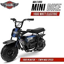 Monster Moto MM-E1000-BB Electric Mini Bike, Assembled in the USA (1000Watt, Blue/Black)
