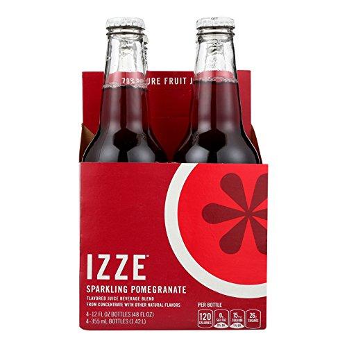 Izze Sparkling Juice - Pomegranate - Case of 6 - 12 Fl oz. by Izze