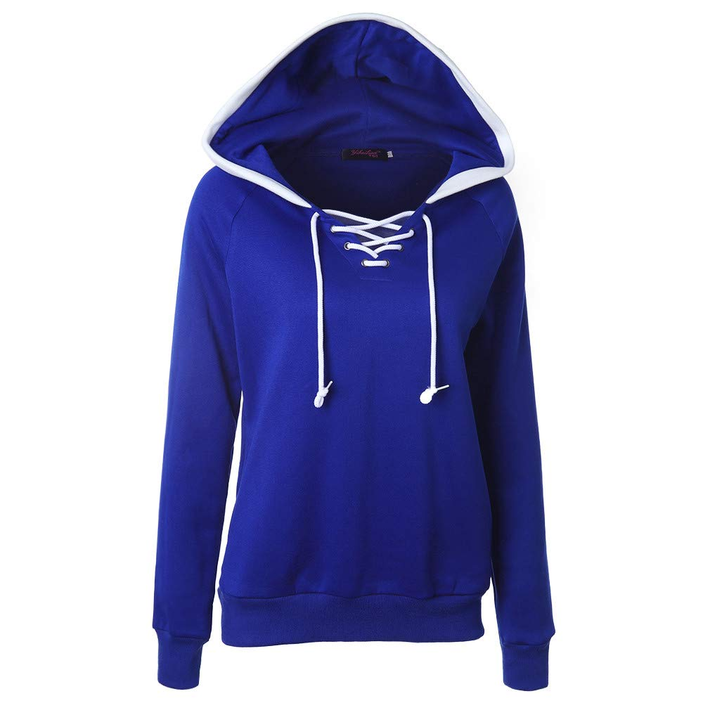 Pullover Hooded Sweatshirt Plus Size for Women,Jiayit Hooded Jumper Winter Lace-up Hoodie