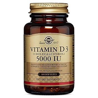 Solgar - Vitamin D3 (Cholecalciferol) 5,000 IU, 100 Softgels