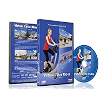 Virtual Cycle Rides - Paris France - For Indoor Cycling, Treadmill and Running Workouts