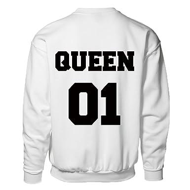 """Sudadera con mensaje """"Queen 01"""" ..."""
