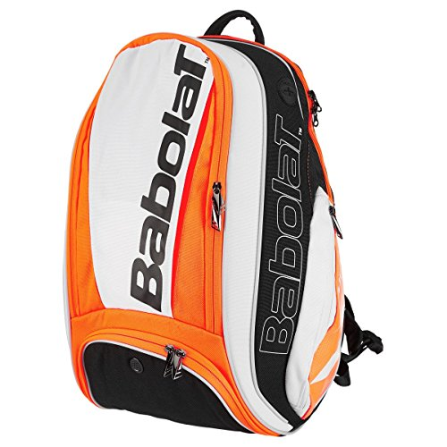 (Babolat 2018 Pure Series Quality Tennis Backpack - Choice of Colors (Strike White/Fluro Red))