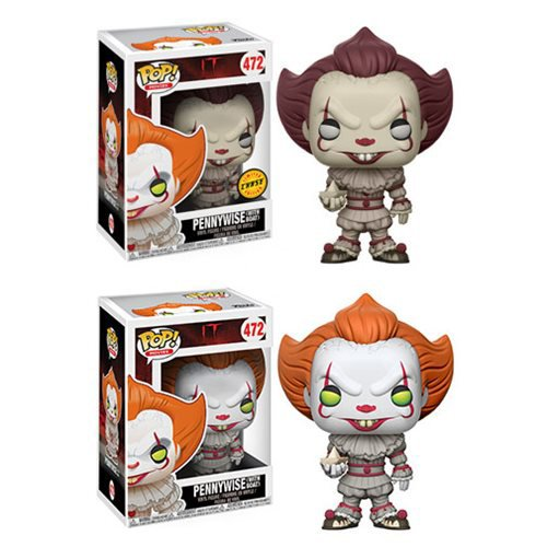Funko Pop Movies IT Pennywise (boat) Vinyl Figure 2pc Bundle