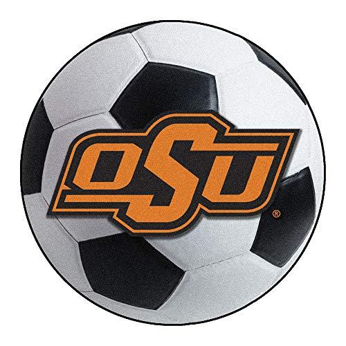 Cowboys Soccer Ball Mat - FANMATS NCAA Oklahoma State University Cowboys Nylon Face Soccer Ball Rug