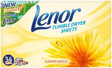 2 x 34 Fogli Lenor Asciugabiancheria Summer Breeze
