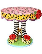 "ATD 61862 11"" Multicolored Leopard Print High Heels Design Cake Stand"