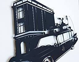 Ghostbusters Ecto 1 - hand cut paper art