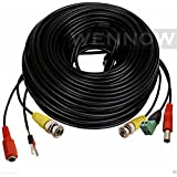 WennoW® 100Ft PTZ Power Video & RS-485 Control Cable for Q-see Zmodo Swann PTZ Cameras
