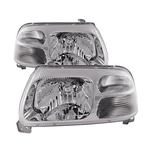 HEADLIGHTSDEPOT Chrome Housing Headlights Compatible with Suzuki Grand Vitara XL-7 Includes Left Driver and Right Passenger Side Headlamps