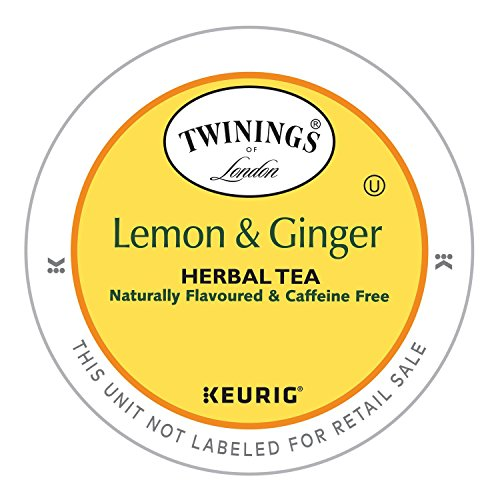 Twinings of London Lemon & Ginger Herbal Tea K-Cups for Keurig, 12 Count (Pack of 6) by Twinings (Image #3)