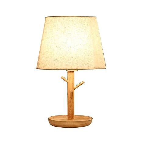 Amazon.com: HWZQHJY - Lámpara de mesa de madera maciza retro ...