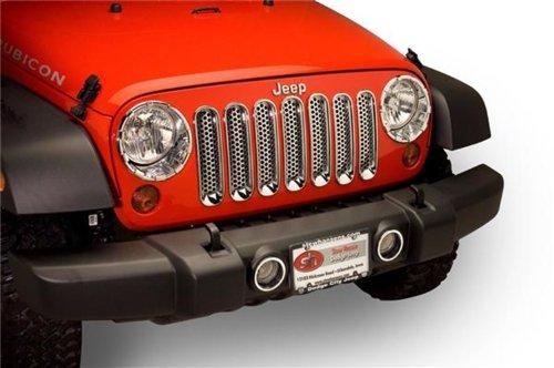 Putco Jeep Trim Cover (Putco 400523 Chrome Trim Grille Cover)