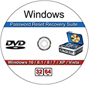 9th & Vine Password Recovery Reset CD Compatible With Windows Versions,10, 8.1, 7, XP and Vista in 32/64 B