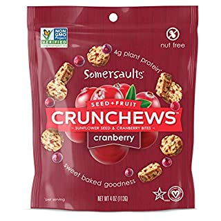 Somersaults Crunchews Sunflower Seed & Fruit Bites, Cranberry, 4 oz