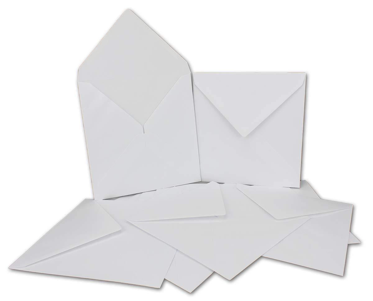 Briefumschläge Quadratisch 17,5 x 17,5 cm cm cm - Weiß - 500 Stück EXTRA QUALITÄT - 100 g m² - 175 x 175 mm - Nassklebung - Qualitätsmarke  Gustav NEUSER® B07KG21284 | Preisreduktion  fc3d3e