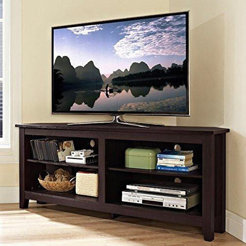 Espresso Plasma Tv Stand (TV Console Stands 58