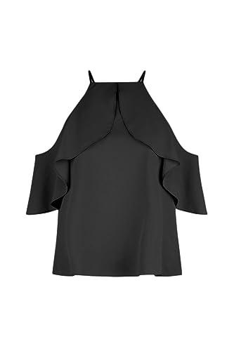 Las Mujeres Sin Tirantes De Blusa Camisa Verano Suelto Capa Top Plus Size