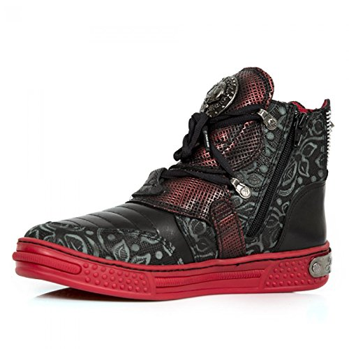New Rock Boots M.ps049-c7 Gotico Hardrock Punk Unisex Sportschuhe Schwarz