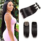 Best Hair Bundles With Free Parts - YePei Brazilian Straight Hair 3 Bundles With Closure Review