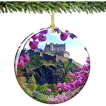 Amazon.com: Edinburgh Scotland Christmas Ornament Porcelain, 2.75 ...
