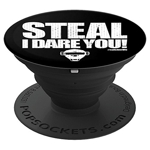 Baseball Nation - Steal I Dare Ya - Cool Gift - Catcher Boy - PopSockets Grip and Stand for Phones and Tablets