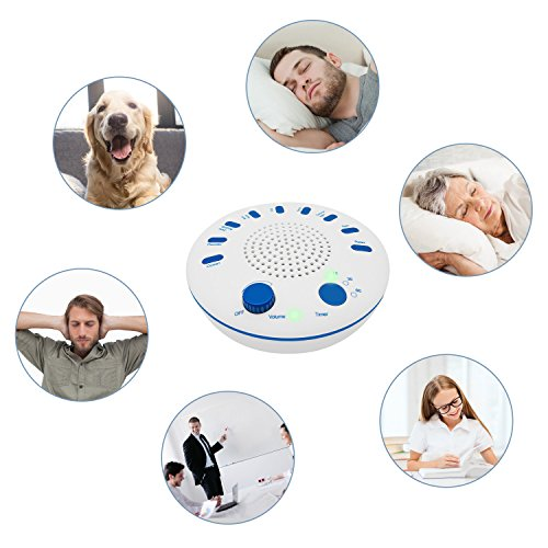 White Noise Machine with Auto off Timer, Adjustable Volume, Battery Operated Portable Sound Machine for Travel,Office,Baby,Sleep by AZGGN (Image #3)