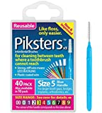 Piksters Interdental Brush Pack Of 40 Size 5 Blue by Piksters