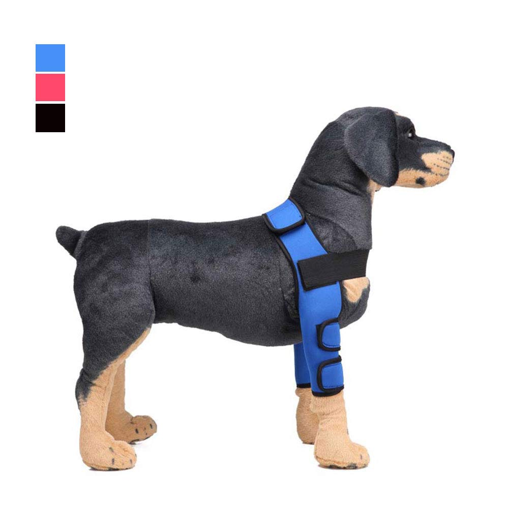 Black Small Black Small Canine leg joint sleeve, Dog Elbow Predector Dog Leg Support Suitable for Dog Restoration Predection Wound Support Treatment and Prevention of Injury and Sprain Helps Stability Loss Caused by Arthritis