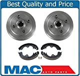 Mac Auto Parts 25848 Toyota Tercel Paseo NO ABS (2) Brake Drums & Brake Shoes