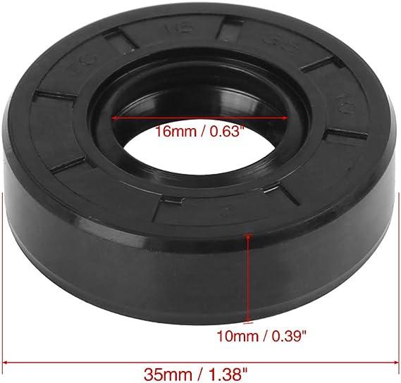 X AUTOHAUX Doppelte Lippe TC /Öl Wellendichtung f/ür Auto 32mm X 52mm X 7mm Gummi