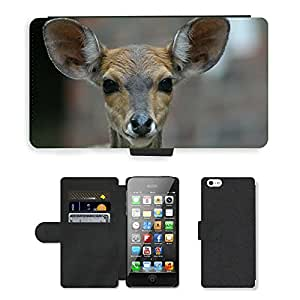 PU LEATHER case coque housse smartphone Flip bag Cover protection // M00129262 Dólar de los ciervos de Menores animal // Apple iPhone 5 5S 5G