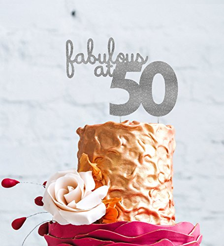 LissieLou Fabulous At 50 Cake Topper