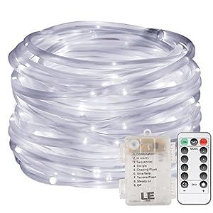 LE Rope Lights Battery Powered, IP44 Waterproof