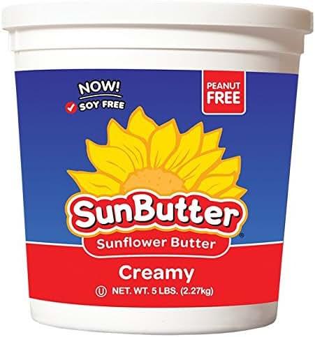 SunButter Sunflower Butter Original Creamy (5lb containers, Pack of 2)