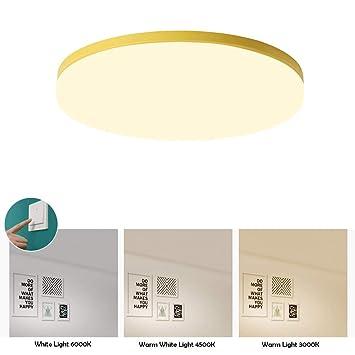 BDYJY Luz de Techo LED, lámpara de Techo acrílica Redonda ...