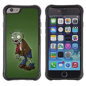 LASTONE PHONE CASE / Suave Silicona Caso Carcasa de Caucho Funda para Apple Iphone 6 / Zombie Green Man Monster Cartoon Character