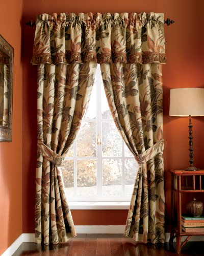 CROSCILL Home Fashions Bali Harvest Tailored Valance, 88-Inch by 17-Inch (Croscill Bedding Window)