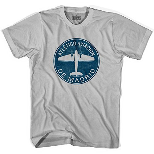 fan products of Ultras Atletico Aviacion De Madrid Roundel T-shirt, Cool Grey, Adult X-Large