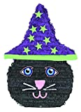 Mexican Pinata Birthday Party Halloween Cat with Hat Design 19.5'' x 13.5'' x 3.5''
