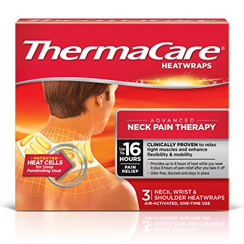 ThermaCare Advanced Neck Pain Therapy (3 Count, Pack of 3) Heatwraps, Up to 16 Hours Pain Relief, Neck, Wrist, Shoulder Use, Temporary Relief of Muscular, Joint Pains Relief Heat Wraps