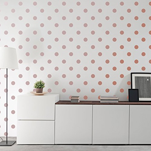 Metallic Rose Gold Wallpops 2.0Inch X 200 Decals Stickers Removable Wall Decal