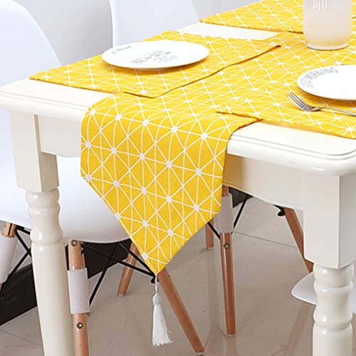 US-ROGEWIN Table Runner Classical Modern Concise Refined Tassels Placemat for Wedding Party Household Decoration Tablecloth]()