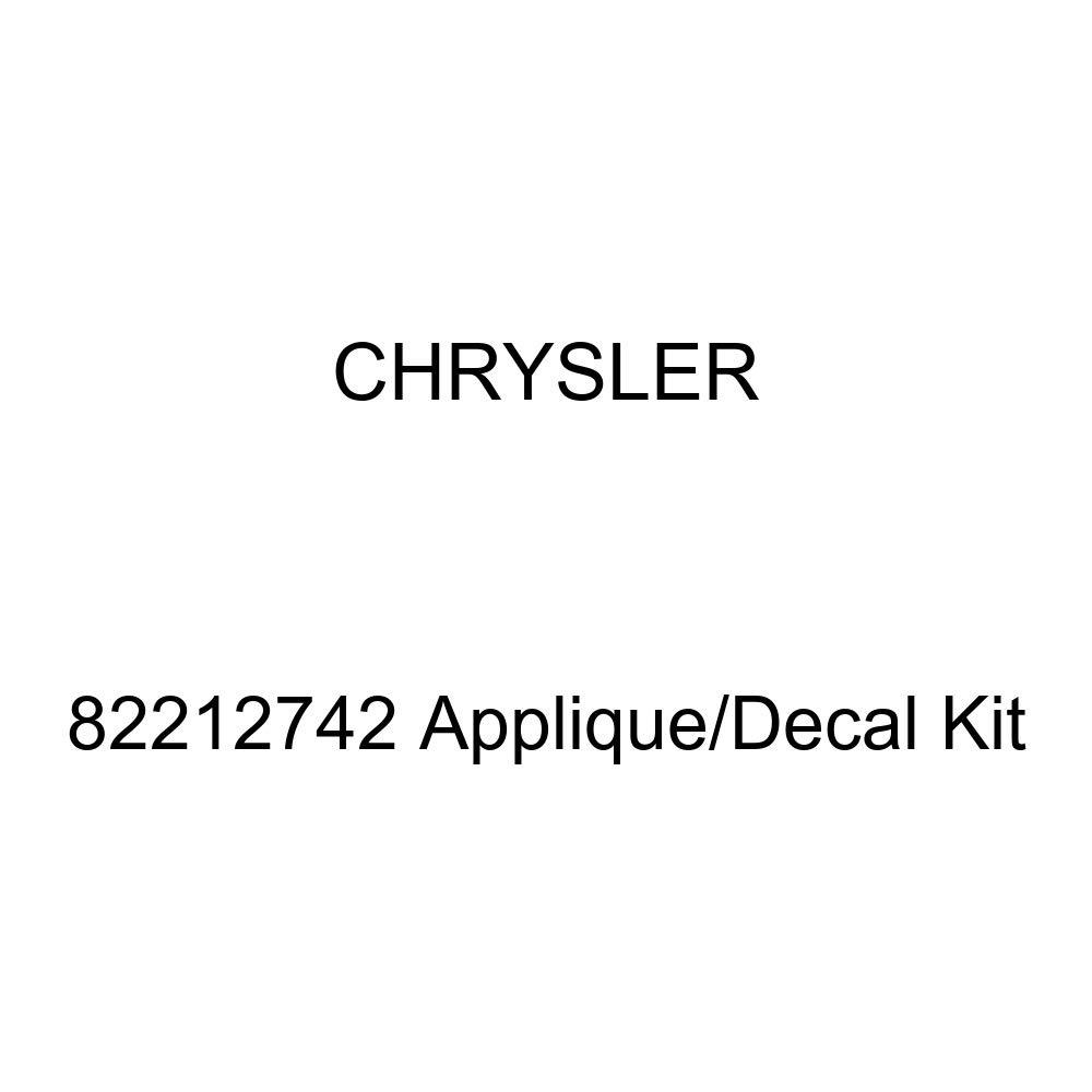 Chrysler Genuine 82212742 Applique//Decal Kit