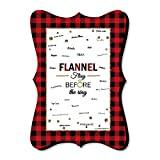 Big Dot of Happiness Flannel Fling Before The Ring - Unique Alternative Guest Book - Buffalo Plaid Bachelorette Party Signature Mat