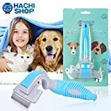 HACHI SHOP Dog Shedding Brush Pet Grooming Deshedding Brushes Hair Remover Tool for Small Medium Cats Dogs with Short Medium Long Hair