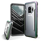 X-Doria Galaxy S9 Case, Defense Shield Protective Aluminum Frame Case Thin Design Shockproof Transparent Case for Samsung Galaxy S9, Iridescent
